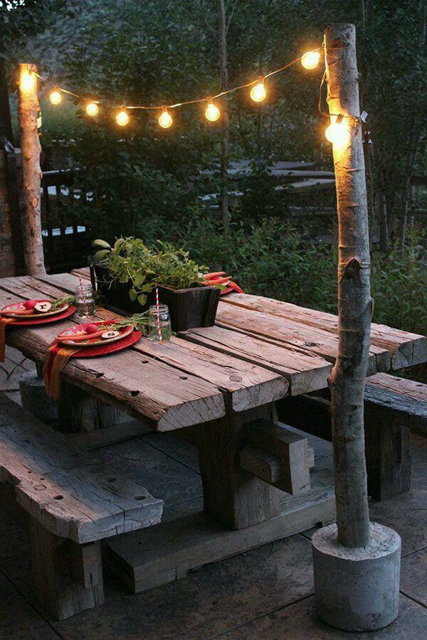 Table lights Iluminacion Pinterest Jardines, Jardines en