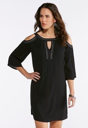 4c5c238e51a Cato Fashions Plus Size Crepe Cold Shoulder Dress  CatoFashions ...
