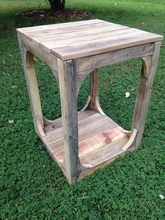 Wooden End Tables Made From Reclaimed Wood