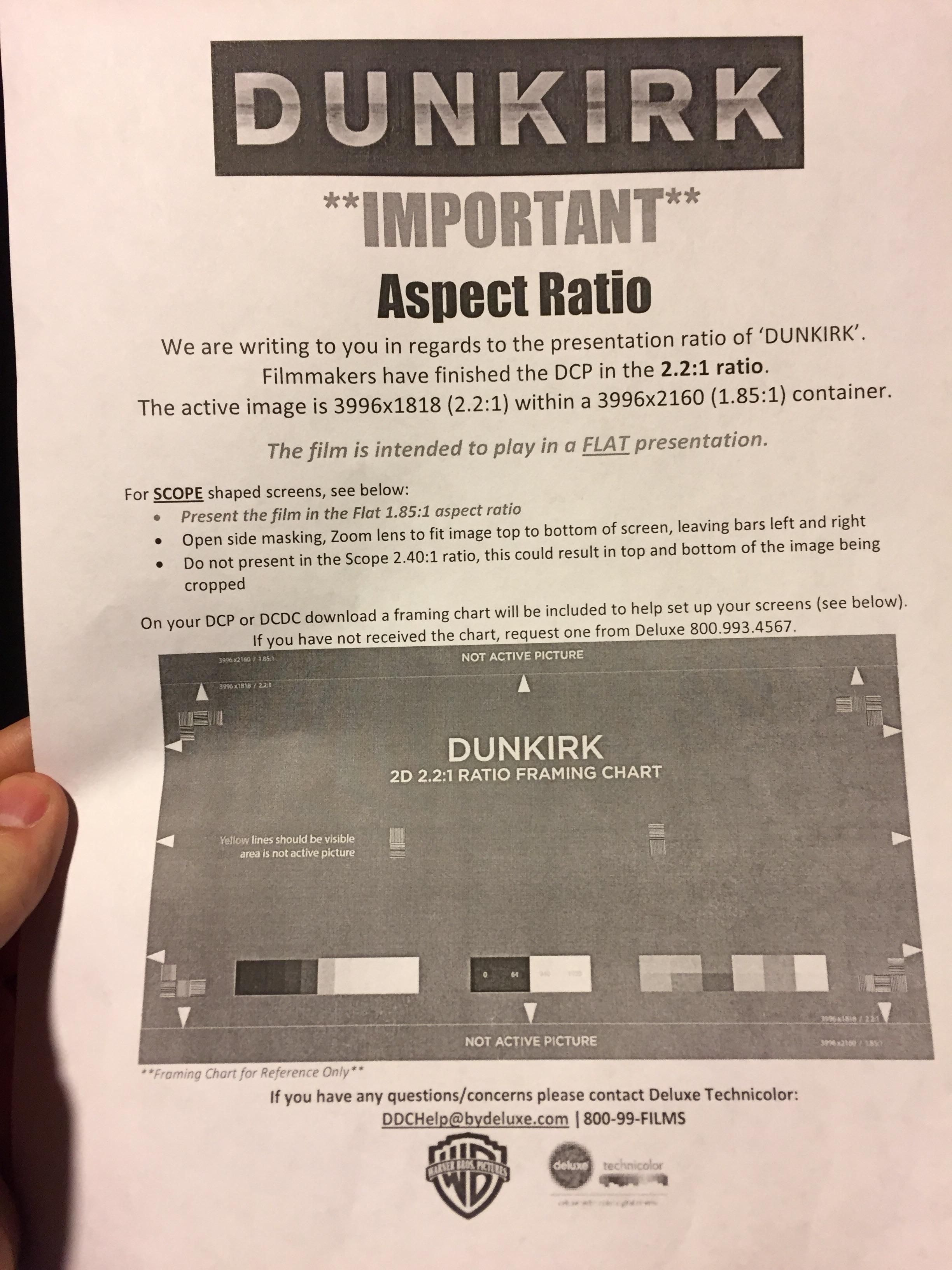 Dunkirk special instructions for aspect ratio latest movies dunkirk special instructions for aspect ratio fandeluxe Choice Image