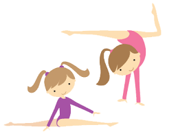 Two gymnast on cartoon picture