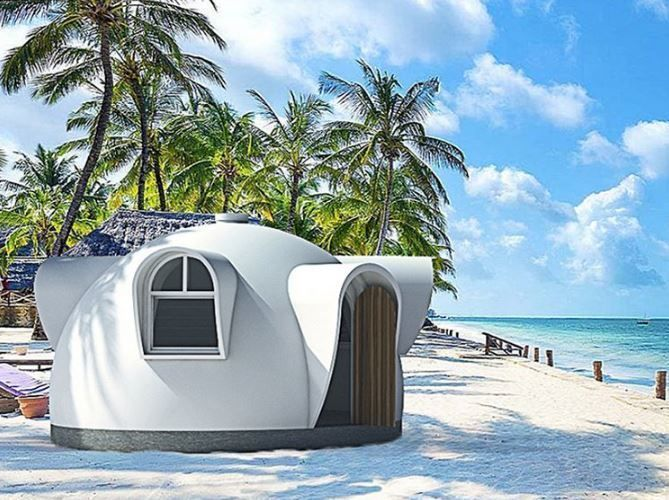 Another beautiful dome house.   Shoutout to Australia's best dream domes.  Follow @domedreaming for more designs.  5.9m (19m2) Tiny house tourist cabin or your favorite space