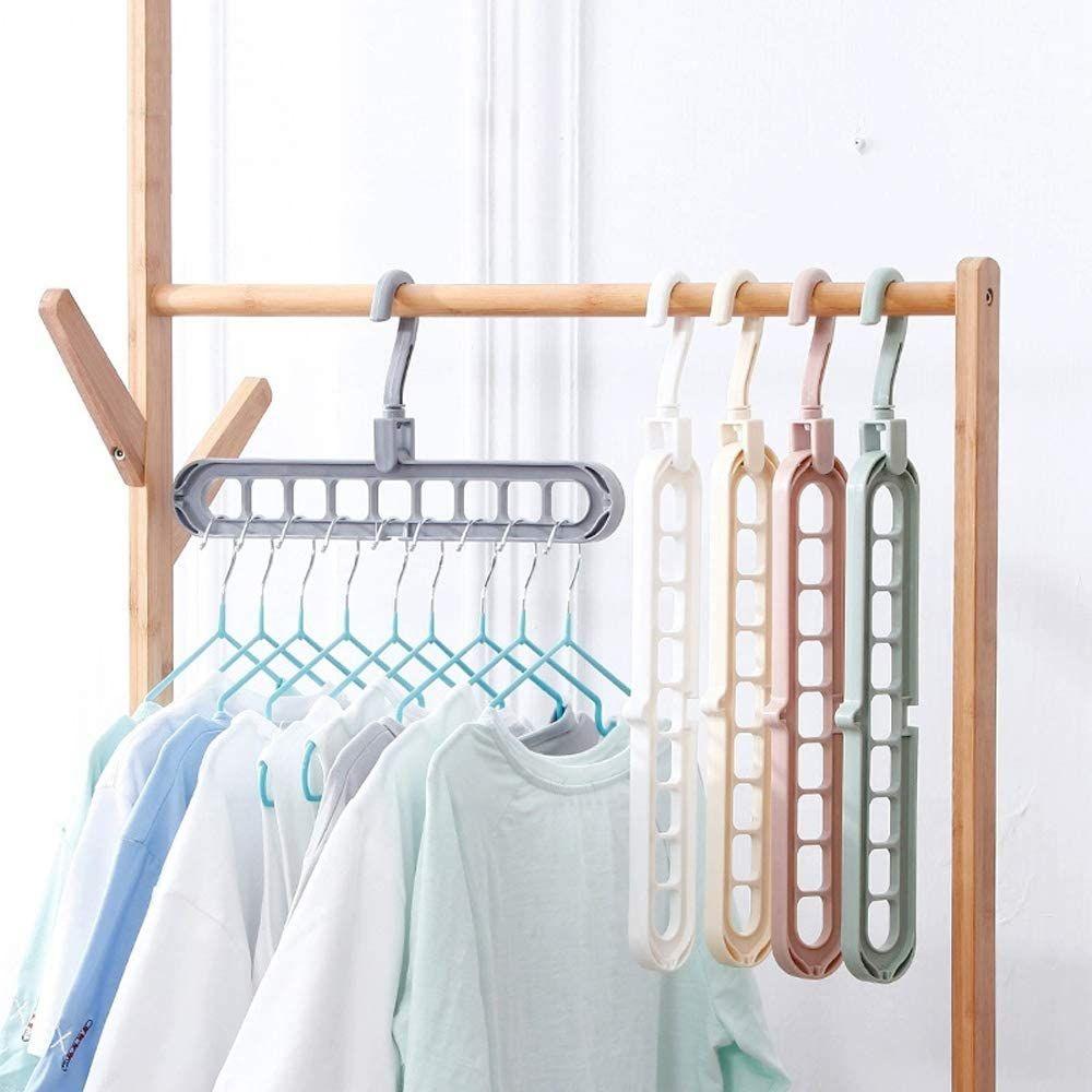 Jojor Magic Clothes Hanger Organizer 5 Pack Closet Space Saving Hanger Multi Functional Wardrobe Hanger R In 2020 Space Saving Hangers Clothes Hanger Closet Hangers