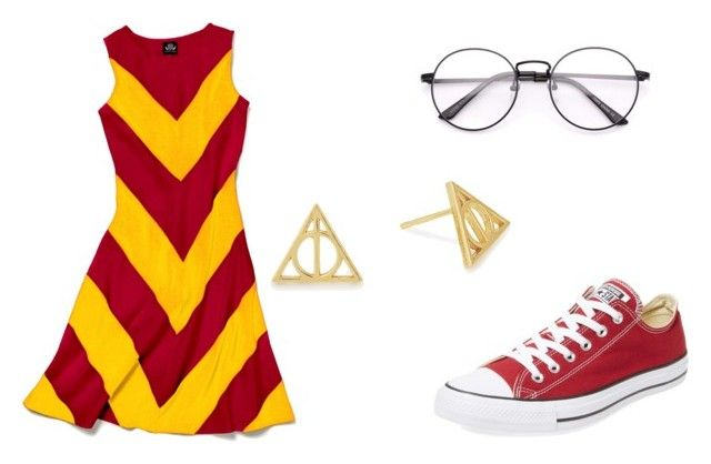 """""""Gryffindor Attire"""" by zeola-coble on Polyvore featuring Alex and Ani, Slater Zorn and Converse"""
