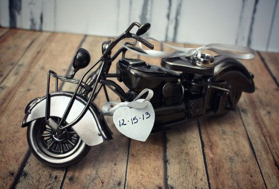 Motorcycle Art Ring Holder Ring Pillow Ring Bearer Harley