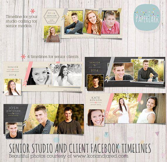 Senior Facebook Timeline Bundle  Photoshop by PaperLarkDesigns, $21.95 See them here: https://www.etsy.com/listing/162457479