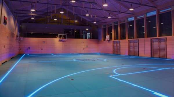 Futuristic Gym Courts Basketball Court Indoor Basketball Court Basketball Floor