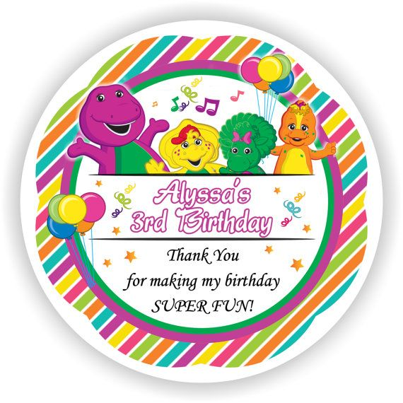 Cute personalized barney and friends theme design for do it yourself cute personalized barney and friends theme design for do it yourself stickers labels gift solutioingenieria Choice Image