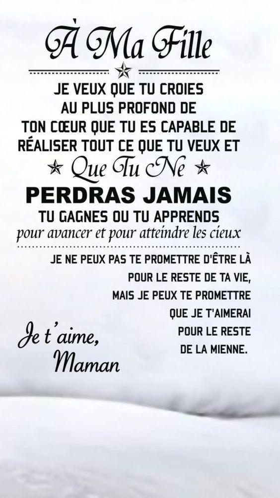 Phrase D'amour Pour Sa Fille : phrase, d'amour, fille, Épinglé, Philippe, Bouteille, French, Quotes, Meaning❤️, Maman, Citation,, Belles, Citations,, Citations, Genre