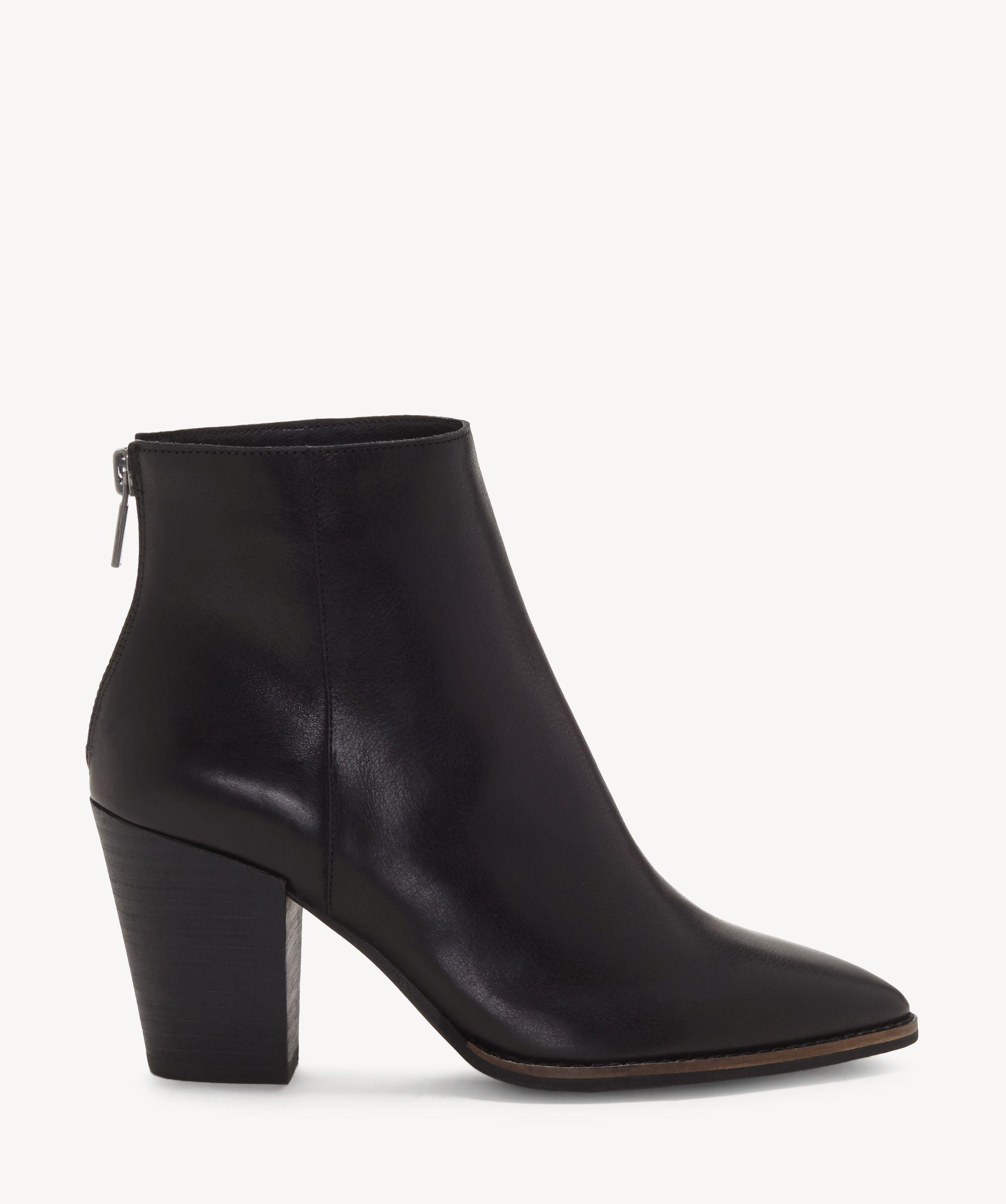 90d62b6e4f787 Lucky Brand Women's Adalan2 Block Heels Bootie Black   Size 6.5 Hair Calf  Fur From Sole Society