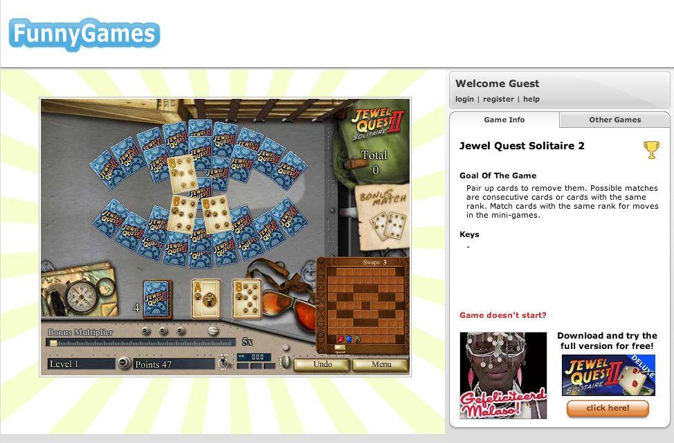Παίξτε Jewel Quest Solitaire 2 στο FunnyGames.gr