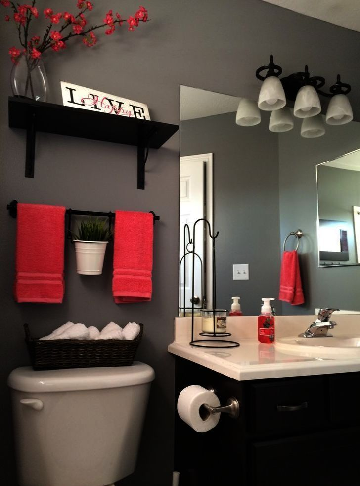 Bathroom Ideas Black Bathroom Decor Red Bathroom Black Decor Diybathroomdecorred Ideas