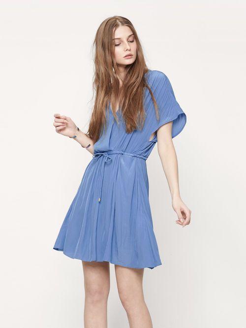 Wickelkleid mit Zugband - Kleider - Maje.com | Wrap Around Dresses ...