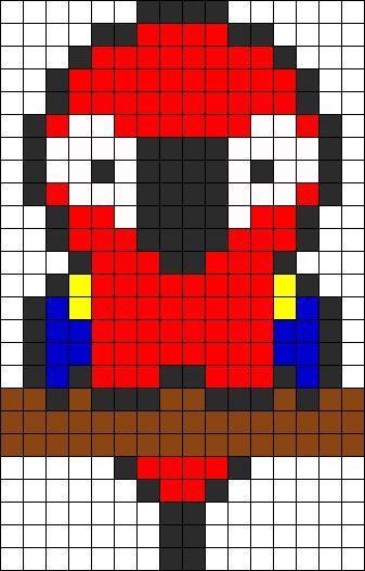 Parrot Perler Beads Minecraft Pixel Art Pixel Art Graph