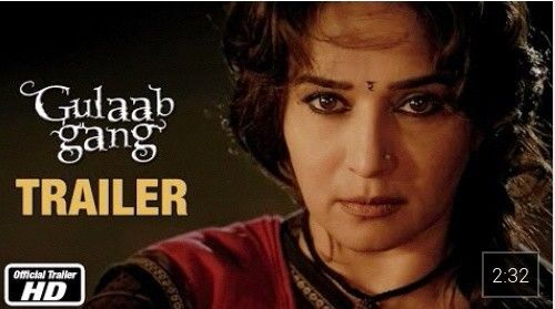 "#BBXclusiveTrailer Watch ""Gulaab Gang - Official Trailer   Madhuri Dixit, Juhi Chawla"" on YouTube - https://www.youtube.com/watch?v=xAcN8RR3Ry4&feature=youtube_gdata_player"