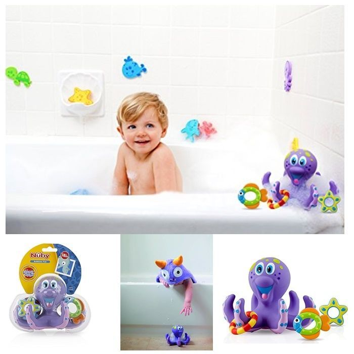 Nuby Octopus Hoopla Bathtime Fun Bath Toy