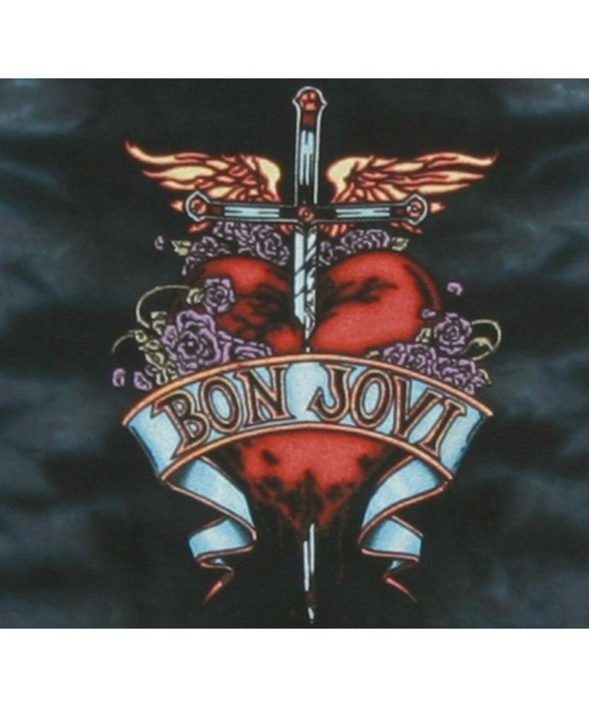 bon jovi logo dagger through heart wallpaper bon jovi logo