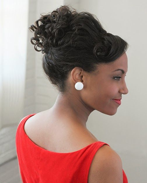 Easy Vintage Hairstyles For Natural Curly Hair Look 1960s Mad Men Bobby Pin Blog Vintage Hair Easy Vintage Hairstyles Vintage Hairstyles Curly Hair Styles