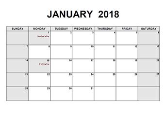 January Calendar  Template Pdf  January Calendar