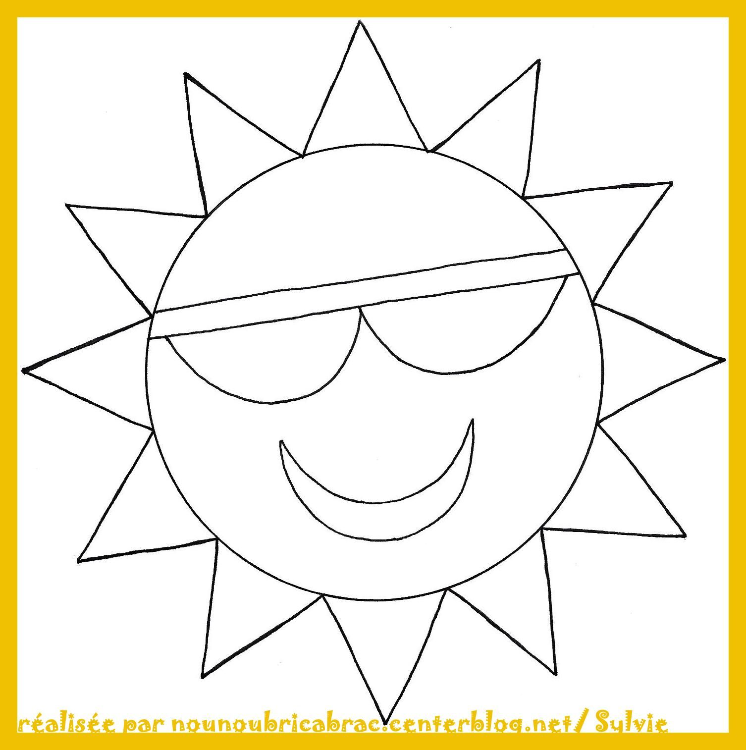 gabarit soleil imprimer   Recherche Google   Coloriage, Coloriage ...