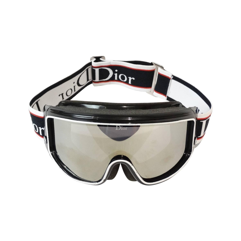 1980s Christian Dior Mirrored Ski Goggles Lunette Ski, Christian Dior  Vintage, Ski Goggles, c5f99f58490c