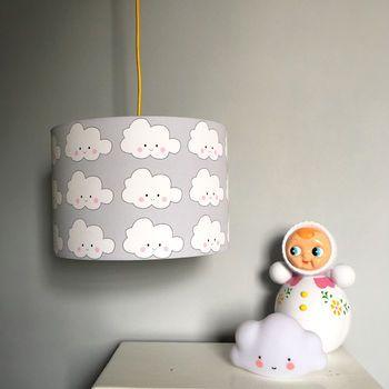 Kawaii Cloud Handmade Childrens, White Childrens Lampshade