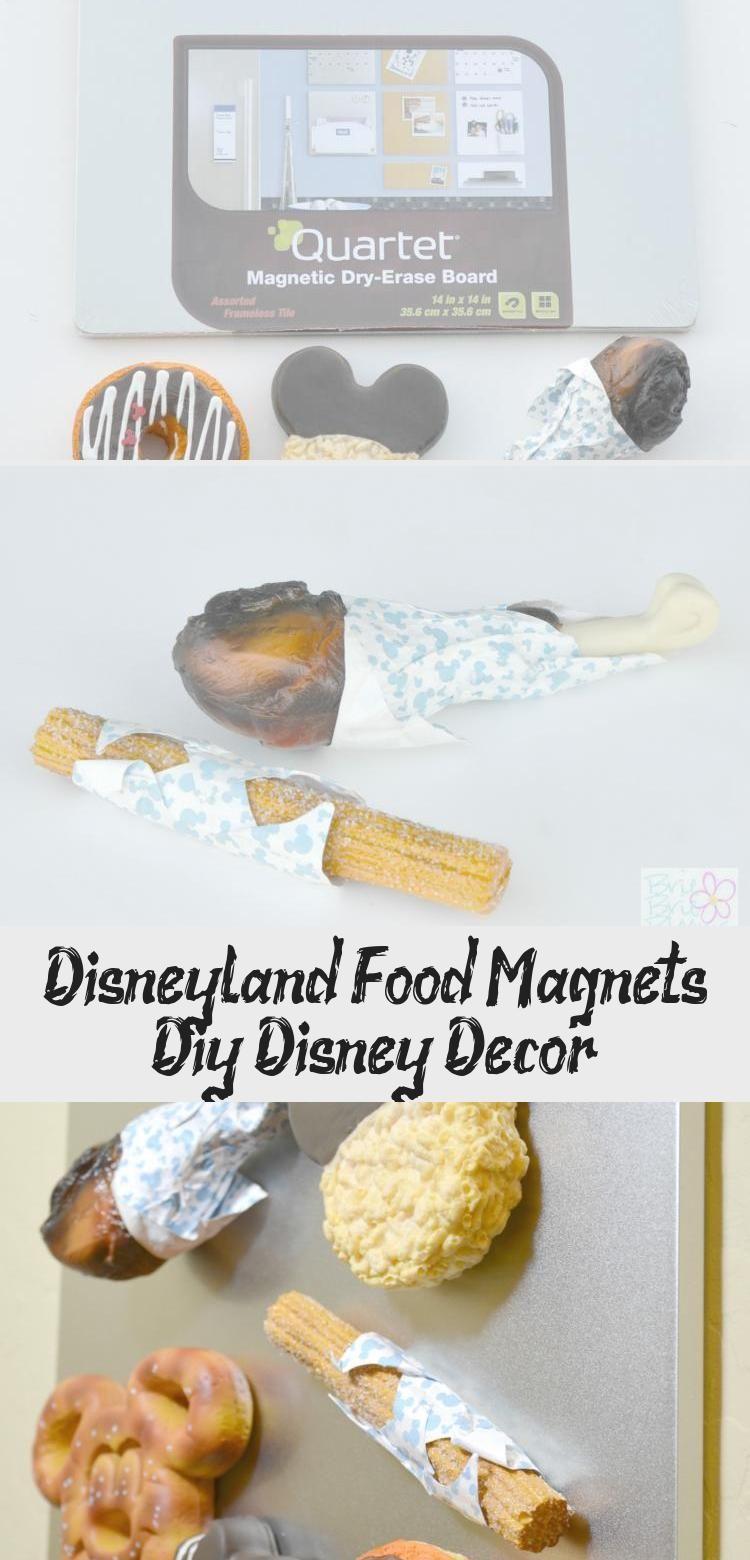 Disneyland Food Magnets Diy Disney Decor #disneylandfood