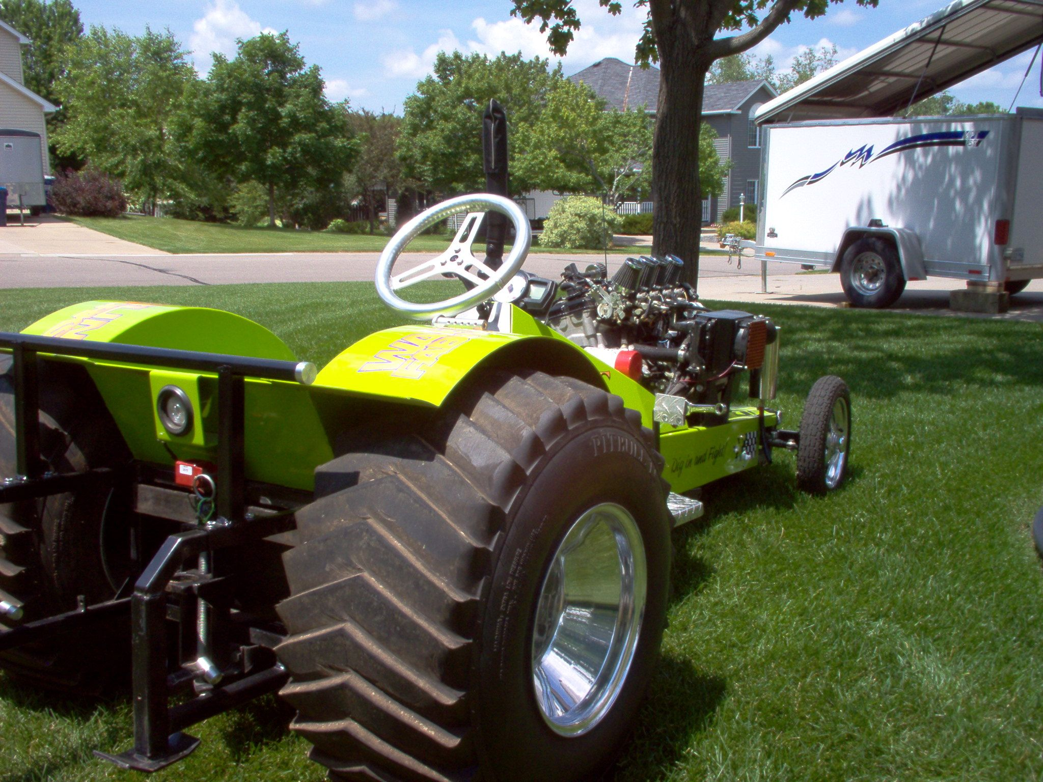 Super Modified Garden Pulling Tractor powered by a 126 H P  Suzuki
