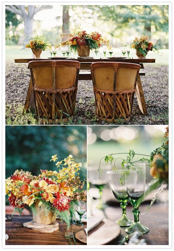Rustic Outdoor Fall Wedding | Rustic fall wedding ideas | Styled Shoots | 100 Layer Cake