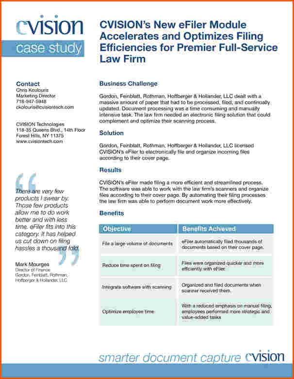 Cvision Technologies  Case Study Template With Client Quote