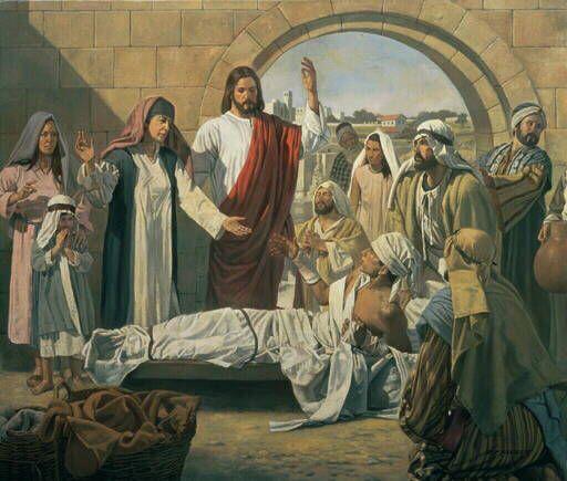 Bible Art Jesus Raises Widows Son