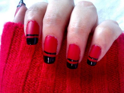 Black and red nail designs tumblr