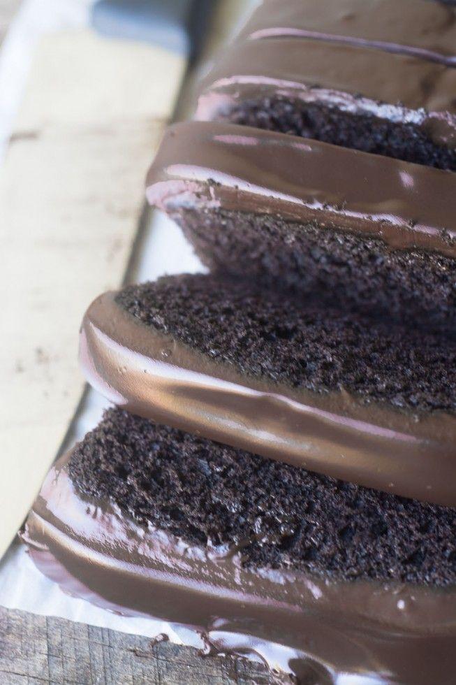 Deep Dark Chocolate Pound Cake