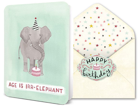 beautiful card matching colorlined envelope and