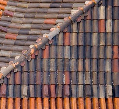 Closeup Of Old Tiled Roof Texture Roof Roof Architecture Solar Tiles