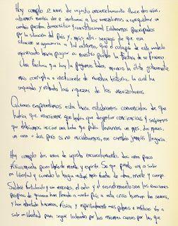 carta de Leopoldo Lopez