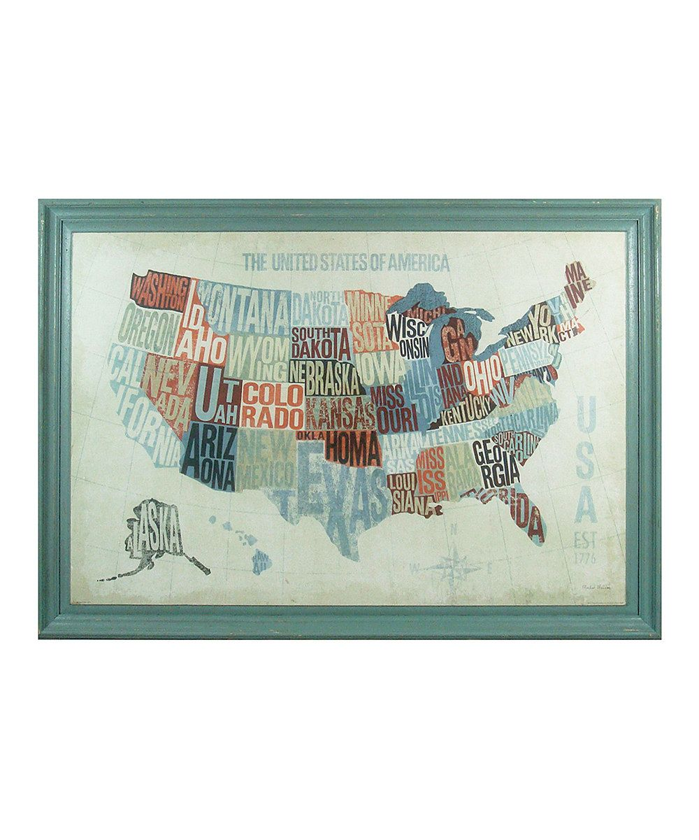Look at this usa text map wall art on zulily today crafty wall
