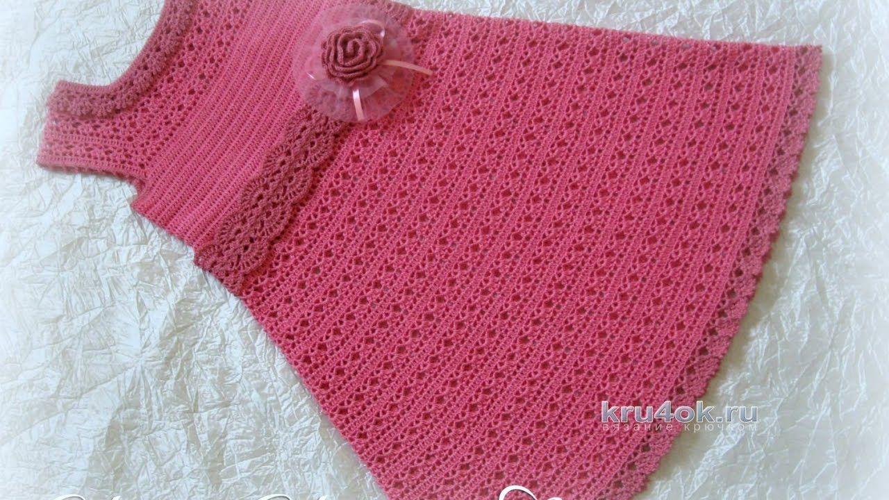 Crochet Patterns  for free  crochet baby dress  1545   crochet ...