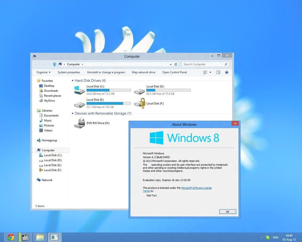Windows 8 RTM Theme for Windows 8 Release Preview | Windows