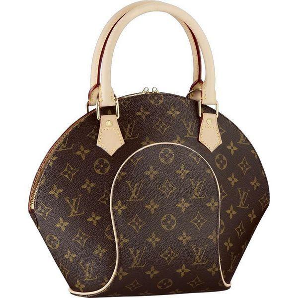 Women Louis Vuitton Monogram Canvas Ellipse PM Brown M51127  7032b672c40f8