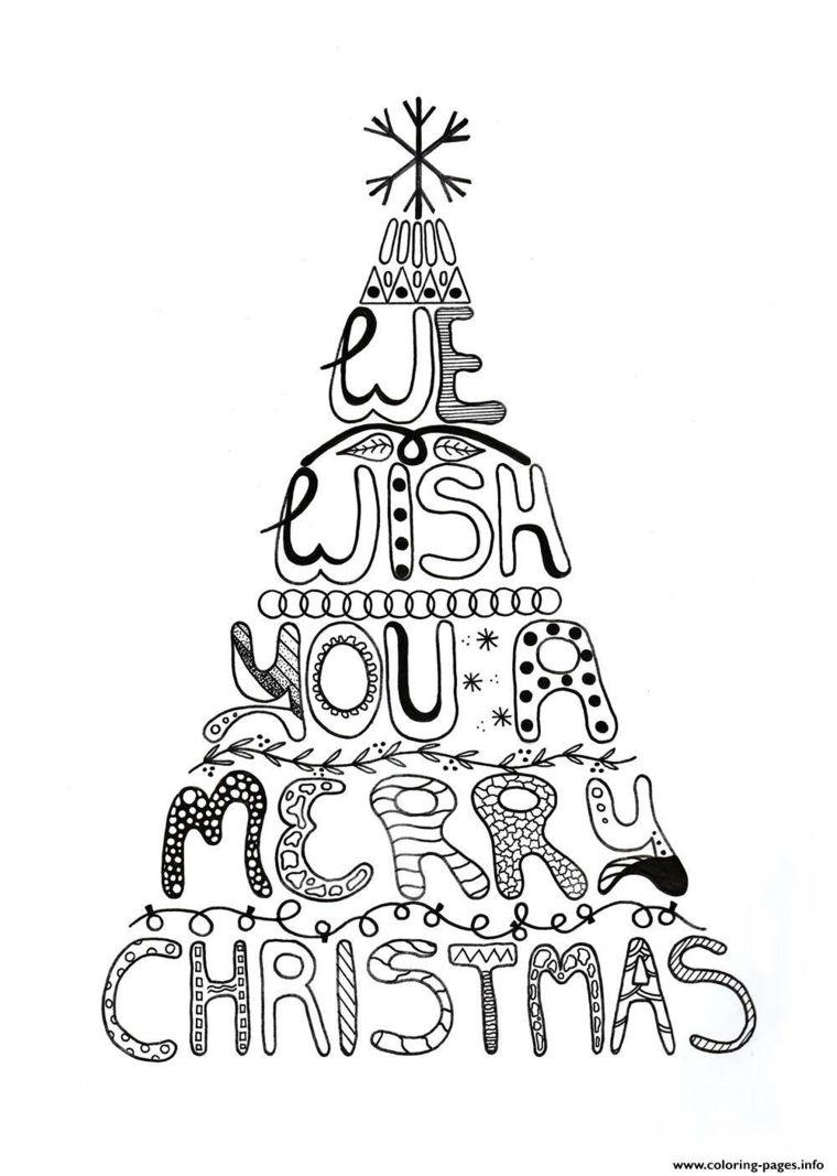 Albero Di Natale In Inglese.1001 Idee Per Albero Di Natale Da Colorare Per Bambini Colori Di Natale Alberi Di Natale Adult Coloring Pages