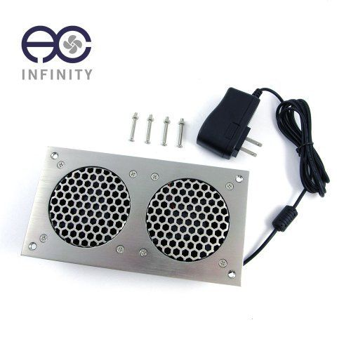 AC Infinity Quiet Cabinet Fan Kit, Dual 80 Silver. For Home ...