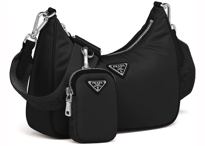 Photo of Prada Re-Edition 2005 Shoulder Bag Nylon Black
