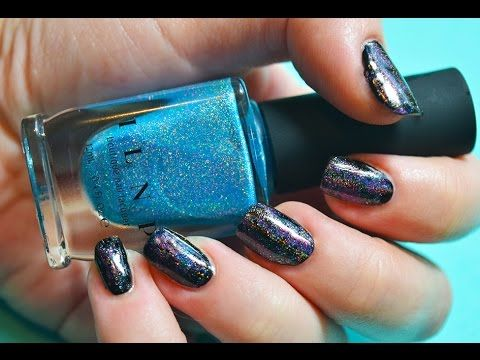 Holo Dry Brush Design *Easy Nail Art*