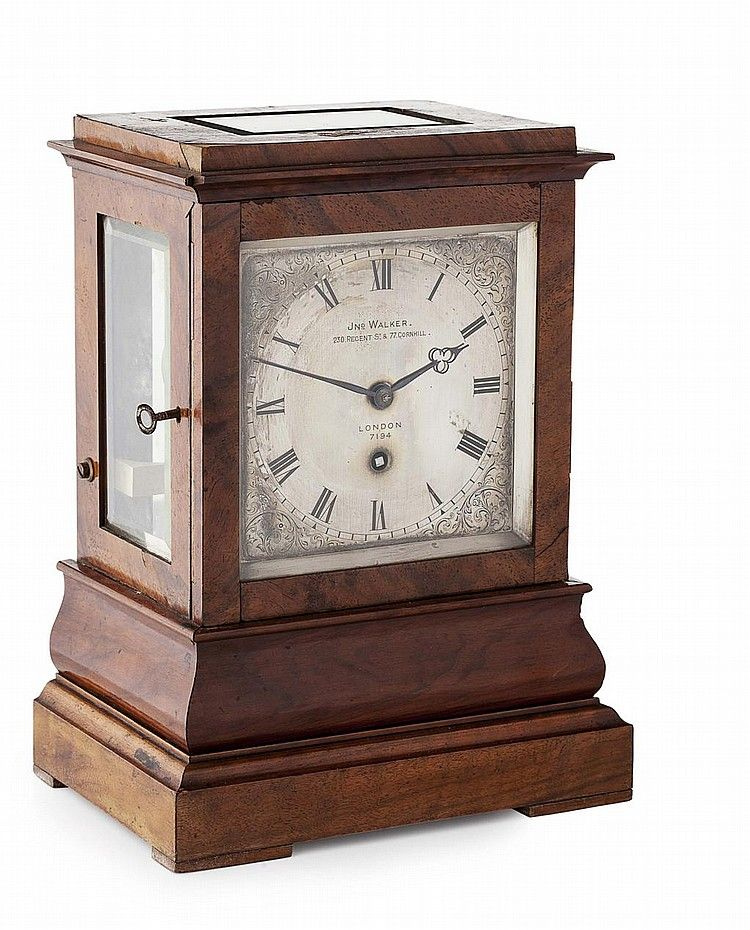 Retro Brass Pocket Watch Table Clock, Desk Vintage Antique Style Shelf Wind Key