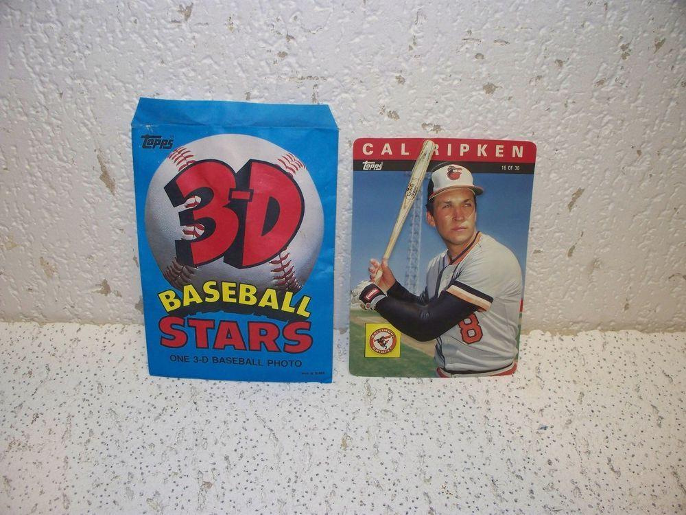 cal ripken jr. 1985 topps 3d baseball star card 16 rare