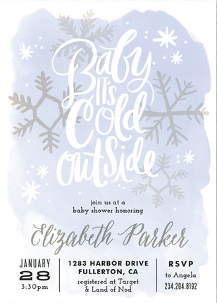 Discover The Perfect Winter Themed Baby Shower Invitation From
