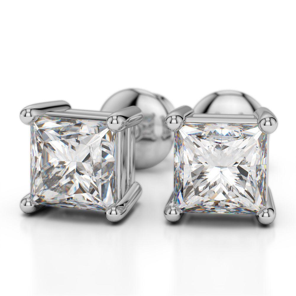 Diamantohrstecker 1.00 Karat aus 585er oder 750er Weißgold