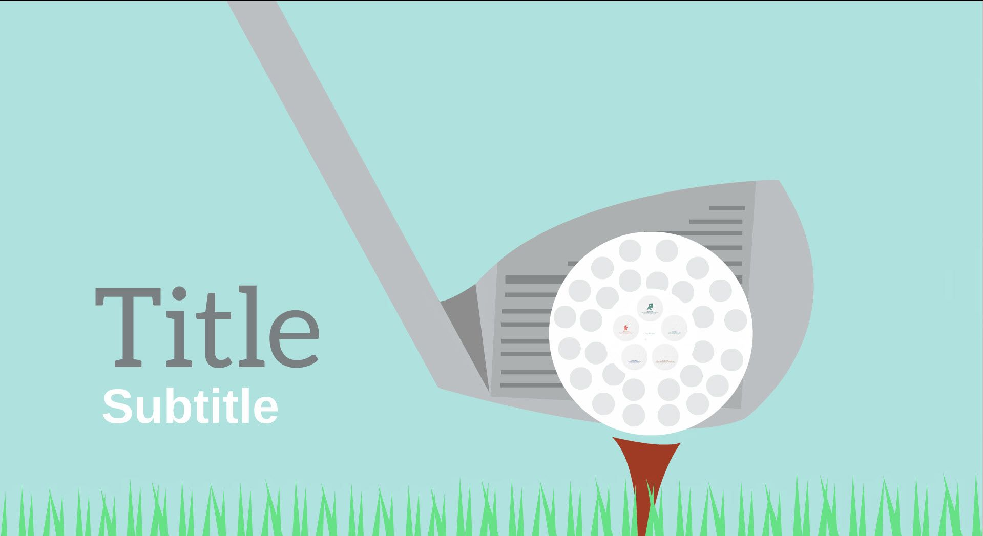 teeing off free reusable golf template free prezi templates for