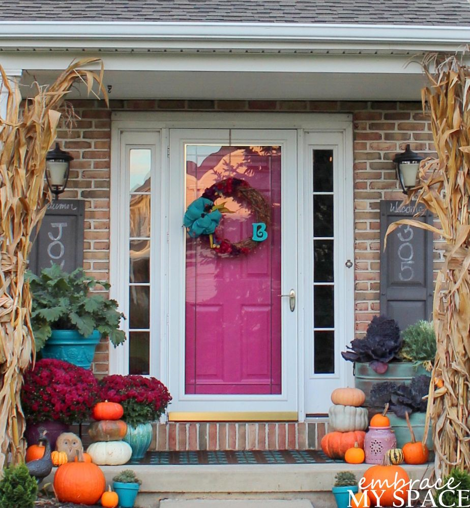 50 Fall Porch Decorating Ideas: Falling For Fuchsia On My Front Porch (embrace My Space